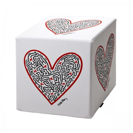 CREATIVANDO - Pouf cubo Keith Haring hearth