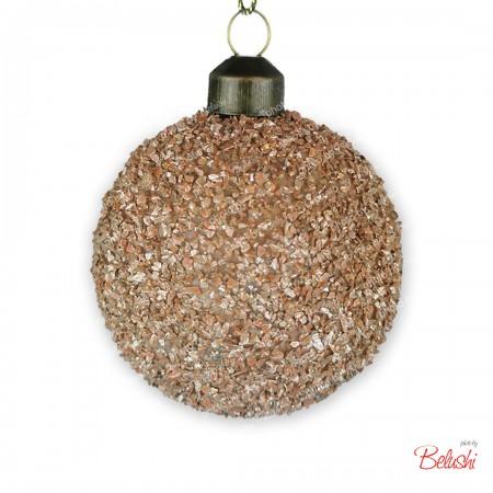 Sfera infrangibile cipria 6cm, decorazione Natale