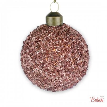 Sfera infrangibile rose gold 6cm, decorazione Natale