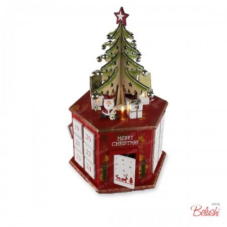Calendario dell'avvento, albero di Natale