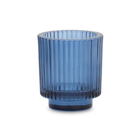 Porta t-light in vetro - BLU
