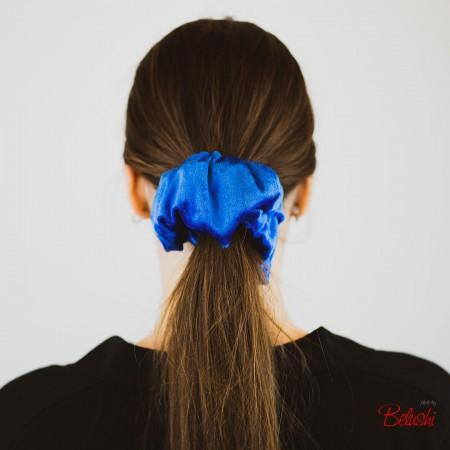 Belushi - Elastico per capelli in ciniglia, azzurro