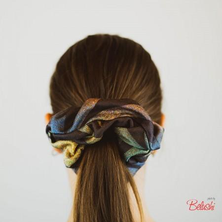 Belushi - Elastico per capelli, quadrettone fantasia