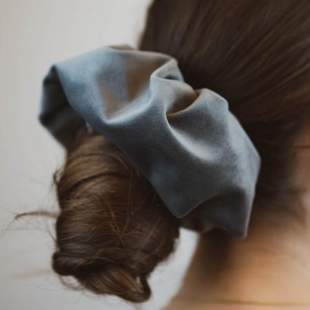 Belushi - elastico per capelli, velluto grigio