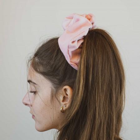 Belushi - elastico per capelli, velluto rosa