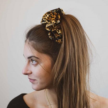 Belushi - elastico per capelli, ciniglia maculata