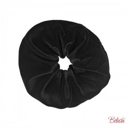 Belushi - Elastico per capelli, velluto nero